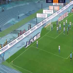 Carrasco (Dalian Yifang) corner kick goal vs Tianjin Teda