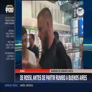 Daniele De Rossi is on his way to Buenos Aires ahead of his move to Boca Juniors