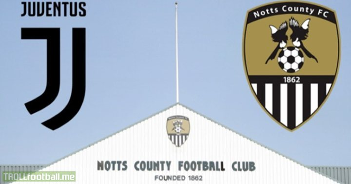 In 1903 Notts County sent a load of kits to Juventus because they had nothing to play in.  116 years later, Juventus have offered to help secure a kit for Notts County. Beautiful.