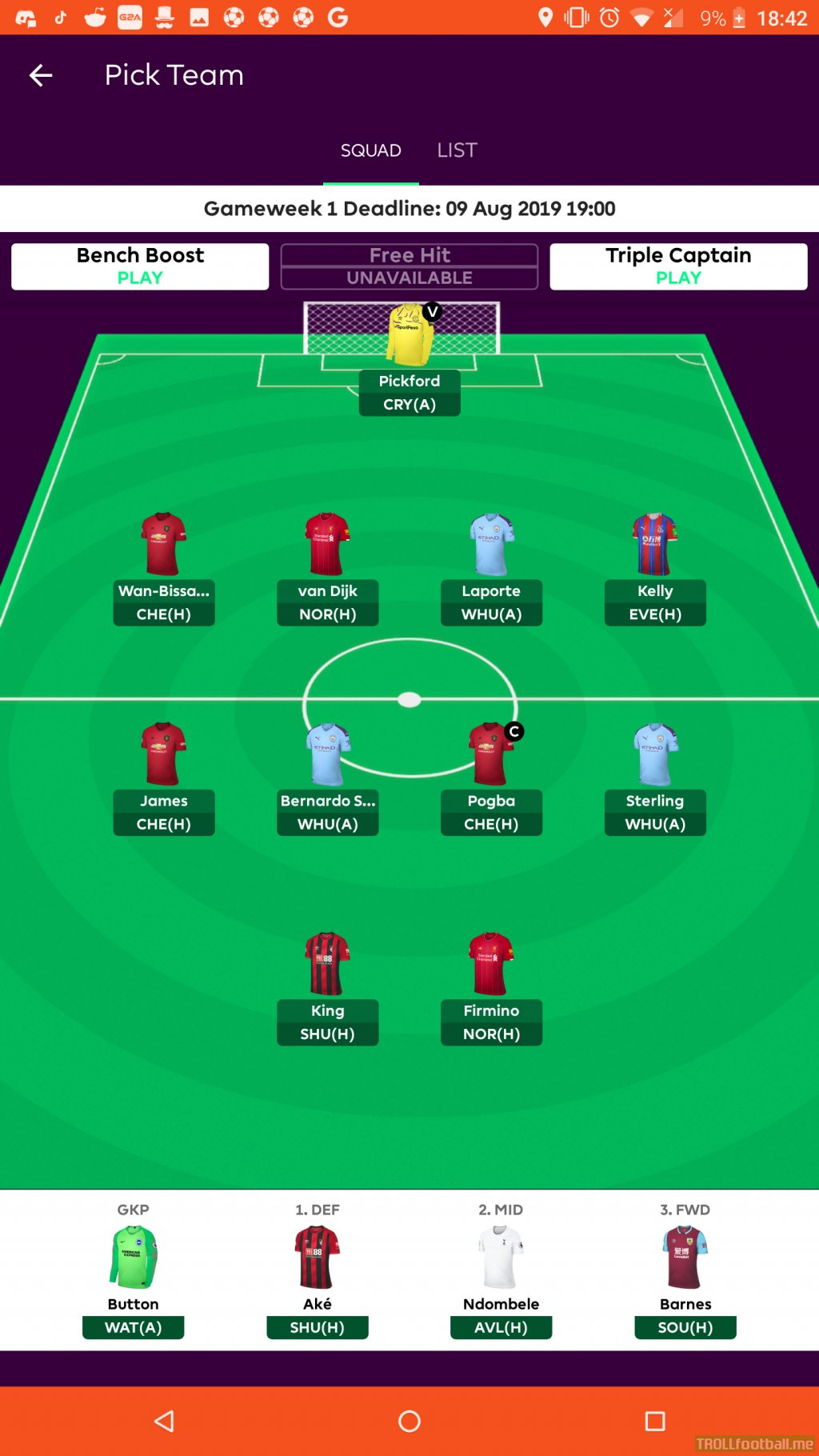 Where is everyone at with Fantasy PL? Any suggestions?