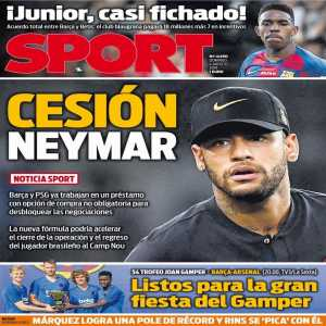 [Albert Rogé] Neymar could reach Barça on loan with a purchase option. BCN would avoid paying another major transfer this summer (Griezmann) and this would accelerate the agreement.
