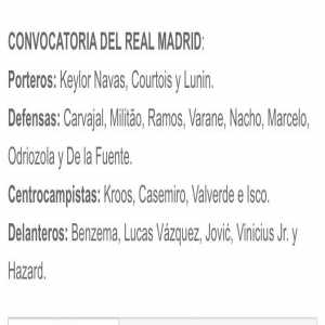 Gareth Bale and James Rodriguez not included in the Real Madrid squad for the game against RB Salzburg.