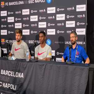 """Gerard Piqué on Neymar Jr's possible return: """"He's a great player who knows the dressing room, the city, and the Club. It's a complicated transaction and it must be he who decides."""""""