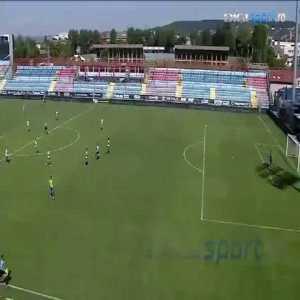 Romanian Liga II: U Cluj 1-0 Tg. Jiu - Alex Pop 35' (half line goal)