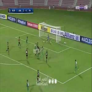 Zob Ahan (Iran) [3] - 4 Al-Ittihad (KSA) — Macauley Chrisantus 83' — Asian Champions League (Round of 16 — Aggregate [4] - 6)