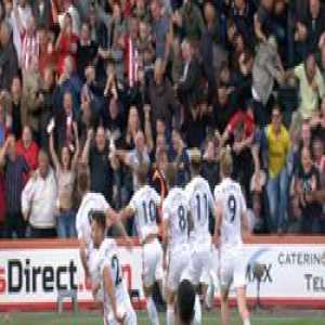 Incredible scenes❗️  When Billy Sharp's debut goal sent the travelling Blades fans into raptures...  🎥 Sheffield United Football Club