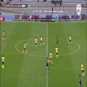 Bryan Lasme (Sochaux) with a great goal from range yesterday vs Paris FC in the French League Cup