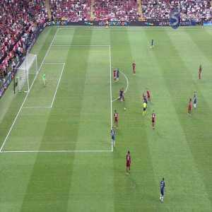 Liverpool 0-0 Chelsea (Pedro hits the crossbar)