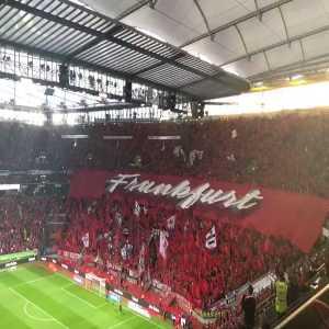 Eintracht Frankfurts Tifo today against Vaduz