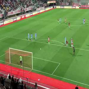 AS Nancy-Lorraine [2]-1 Le Mans - Vagner 90 4. Nancy are playing with 9 men.