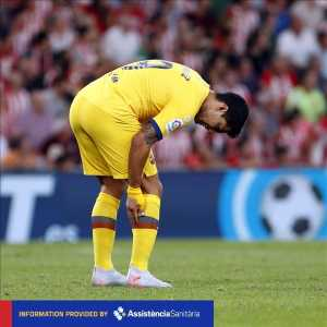 [Barca] Luis Suarez has a muscle injury in his right leg. He will have more tests tomorrow to determine the exact extent of the injury.