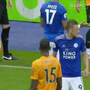 Jamie Vardy commitment (vs Wolves)
