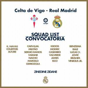 Real Madrid Confirm James Rodriguez Will Play against Celta Vigo