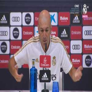 """Real Madrid manager Zinedine Zidane during his presser: """"Pogba belongs to Manchester, you have to accept that."""""""