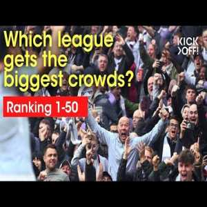 Which football leagues gets the biggest crowds?