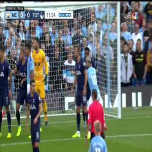 Manchester City penalty shout vs Tottenham