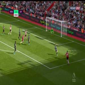 Southampton 1-2 Liverpool - Danny Ings miss 86'