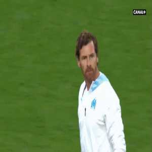 Andre Villas Boas calling players back from tunel to thank Olympique Marseille fans for their support after team's poor performance.