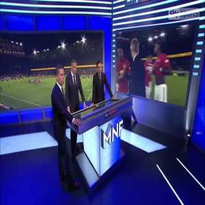 Gary Neville observes something amiss with ManU's leadership on the pitch, as both last week v. Chelsea and today v. Wolves, some debate was had between Pogba, Rashford, and Martial as to who would take the penalty.