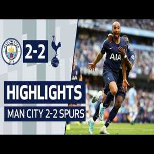 Is it normal for official Premier League highlight recaps to not have the game clock shown? (Man City vs Tottenham)