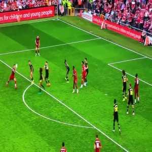 Firmino flick vs Arsenal