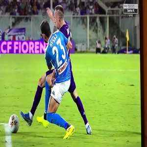 Potential penalty not called (Ribery Hysaj incident)