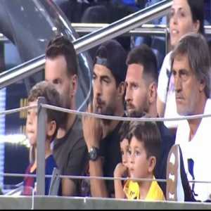 Mateo Messi apparently celebrating Real Betis' goal