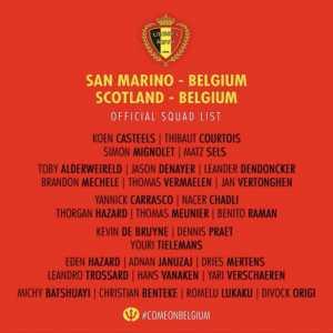 Edén Hazard is in the Belgium squad despite being injured