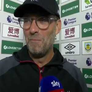Klopp's reaction to finding out Alexander-Arnold's goal was ruled as an own goal