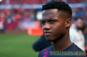 16 Year Old Ansu Fati Made His Barcelona Debut Last Week A Historic Day Yesterday He Scored His First Ever Goal For Barca An Incredible Achievement At The Age Of 16 Troll Football