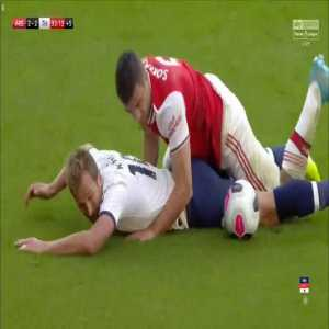 Harry Kane penalty claim against Arsenal
