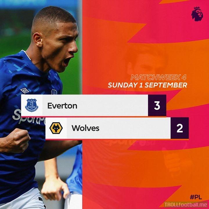 Richarlison scores twice as Everton Football Club earn a 6th successive Premier League home win in a riveting encounter