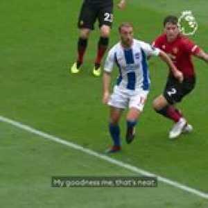 When Glenn Murray stunned Man Utd... 👌  GoalOfTheDay belongs to Brighton and Hove Albion FC