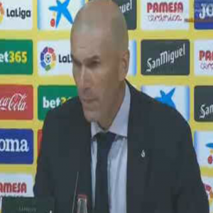 """Zidane: """"I am left with positive feeling, apart from the first 15 minutes. We played a good match. We need to score more goals""""."""