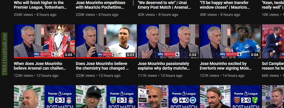 Sky Sports is really milking Mourinho for views