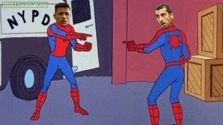 Jan 2018: Arsenal and Man United fans argue about who got the better deal of the Alexis-Mkhitaryan swap.  21 months later: Both flops are sent to Serie A on loan 😂