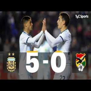 Argentina U23 5-0 Bolivia U23 - Highlights
