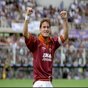 "On This Day In 1994, 18-year-old Italian striker Francesco Totti scored his first goal for Associazione Sportiva Roma in a 1-1 draw against Foggia. In all, Totti made 786 appearances for ""La Lupa""(a nickname for AS Roma), scoring 307 goals."