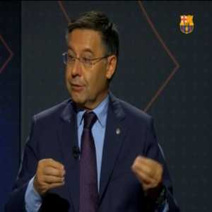 "Bartomeu [Barca President]: ""I will not say who, but there is someone from the board of directors who will succeed me in 2021"""