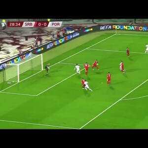 Cristiano Ronaldo missed chance vs Serbia