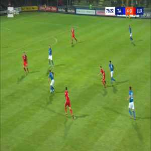 Italy U21 5-0 Luxembourg U21 - Gianluca Scamacca 77'