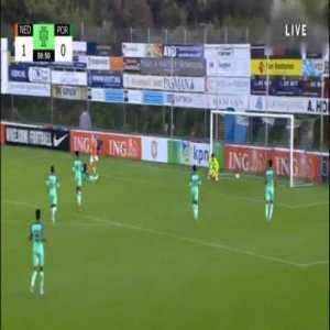 Netherlands U19 [2]-0 Portugal U19 - Arjen van der Heide 9'