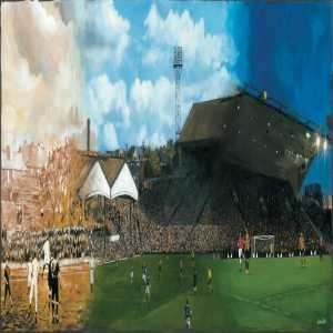 A special Wolves programme cover has been painted by Louise Cobbold to celebrate 130 years at the club's home ground, Molineux. The cover depicts the history of the stadium over the years