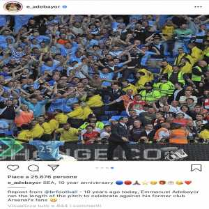Adebayor making your mum jokes at Arsenal fans in the comments of his Instagram post.
