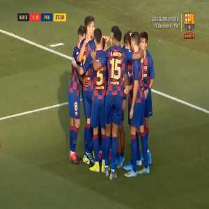 Amazing play by Riqui Puig and great goal by Alex Collado. Barça B