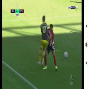 Billy Sharp (Sheffield United) straight red card vs. Southampton (85')