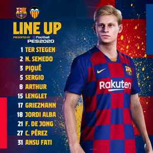 Official: Ansu Fati starts for Barcelona against Valencia