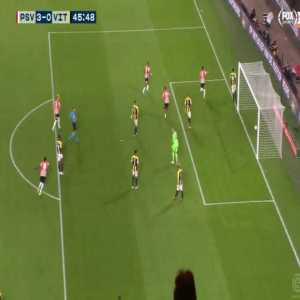 PSV Eindhoven 3-0 Vitesse - Donyell Malen hat-trick 46'