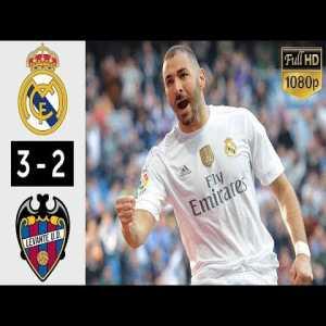 Real Madrid vs Levante 3 2 Highlights & Goals Hazard debut