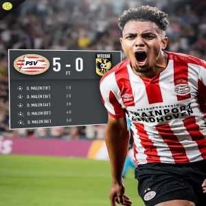 433: September 6: Scores at 🇳🇱 debut. September 14: First @PSV player in 55 years to score FIVE goals in one game. What a week for Donyell Malen 🔥